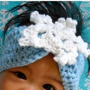 Other - 💙❄️ Snowflake Crochet Headband